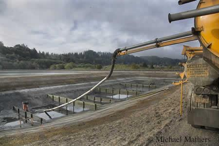 Chlorine Contact Basin at the Wastewater Treatment Facility 2013