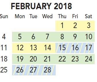 February Recycling Schedule
